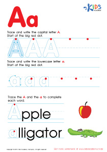ABC Alphabet Worksheets | Letter A Tracing PDF