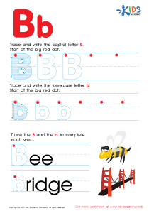 ABC Alphabet Worksheets | Letter B Tracing PDF