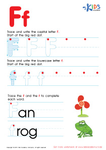 ABC Alphabet Worksheets | Letter F Tracing PDF